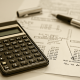 calculator, balance sheet, pen, calculator, funder and associates, steve funder, accounting, services, business
